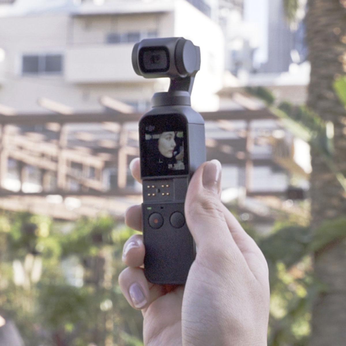 超絶コンパクトな4K対応ジンバル一体型カメラ「Osmo Pocket」がデビュー