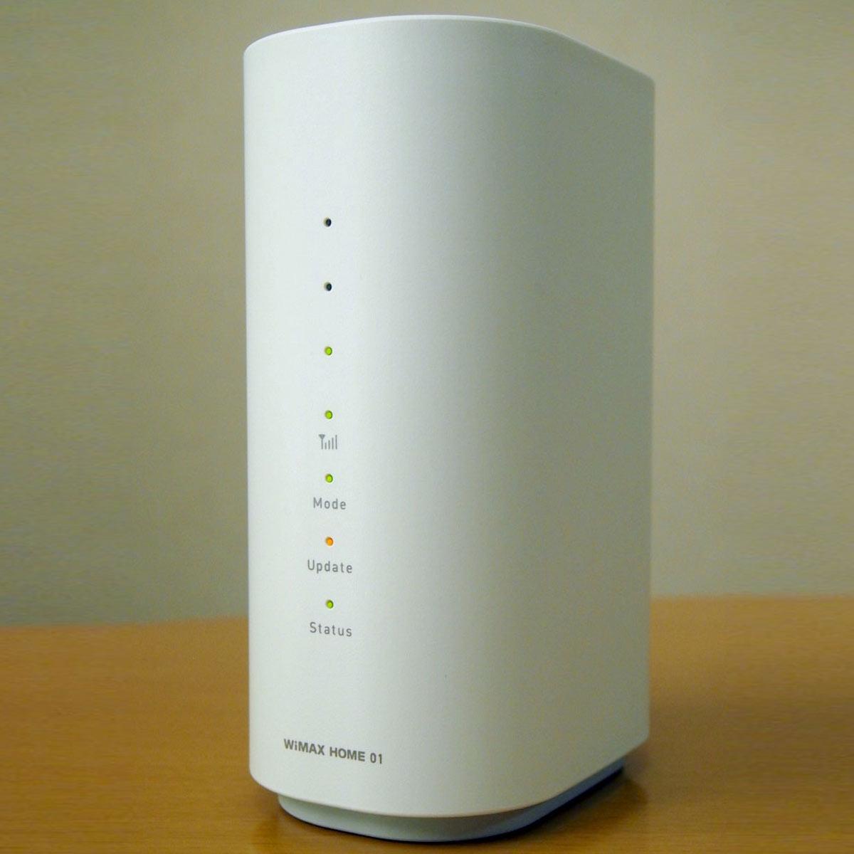 電源さえあればすぐに使える!「WiMAX HOME 01」を試してみた