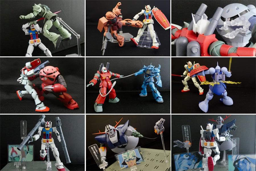 初代ガンダムの名シーンを完全再現 Robot魂16体で一年戦争を振り返る 価格 Comマガジン