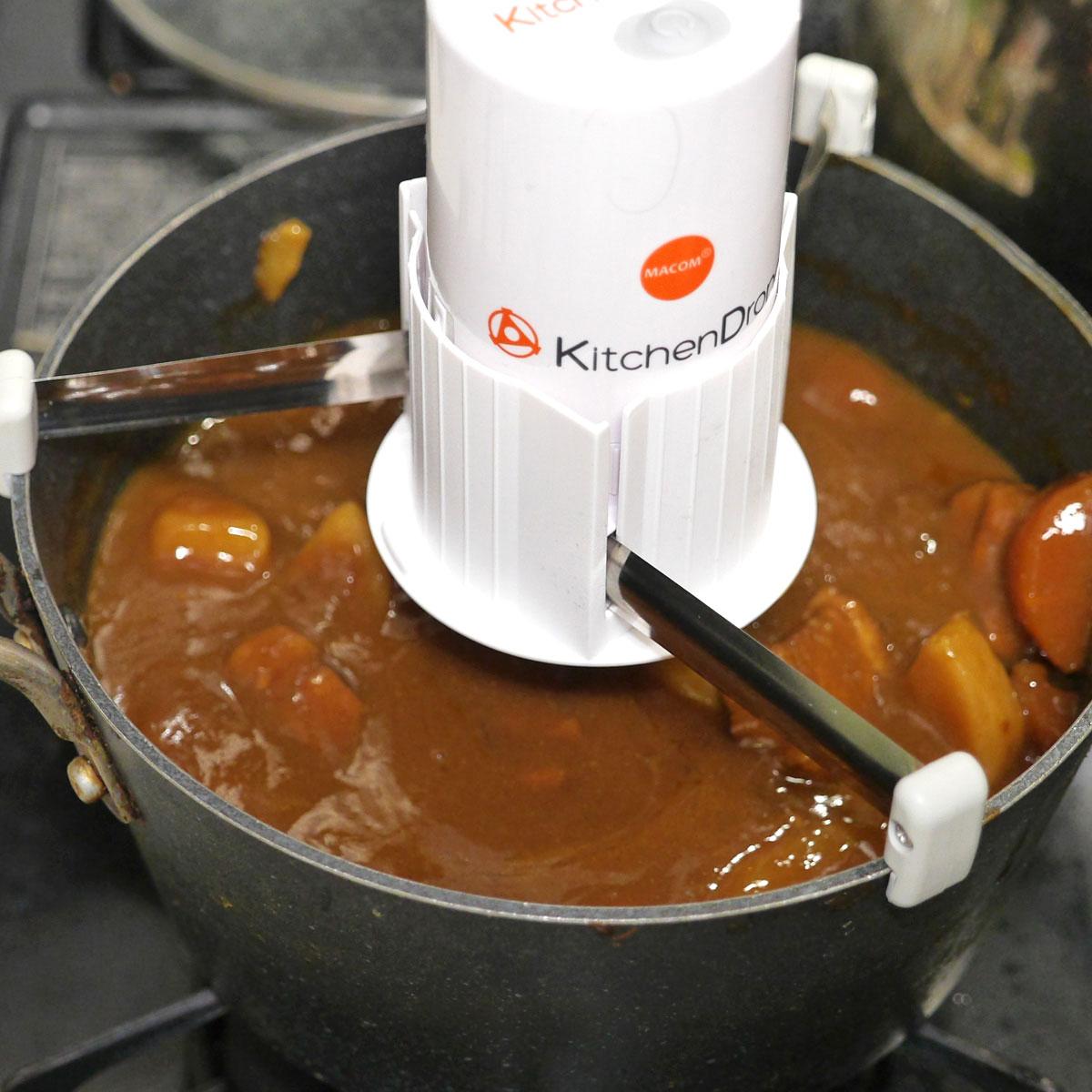 """""""自動かき混ぜ機""""で、ラクラクほったらかし料理に挑戦!"""