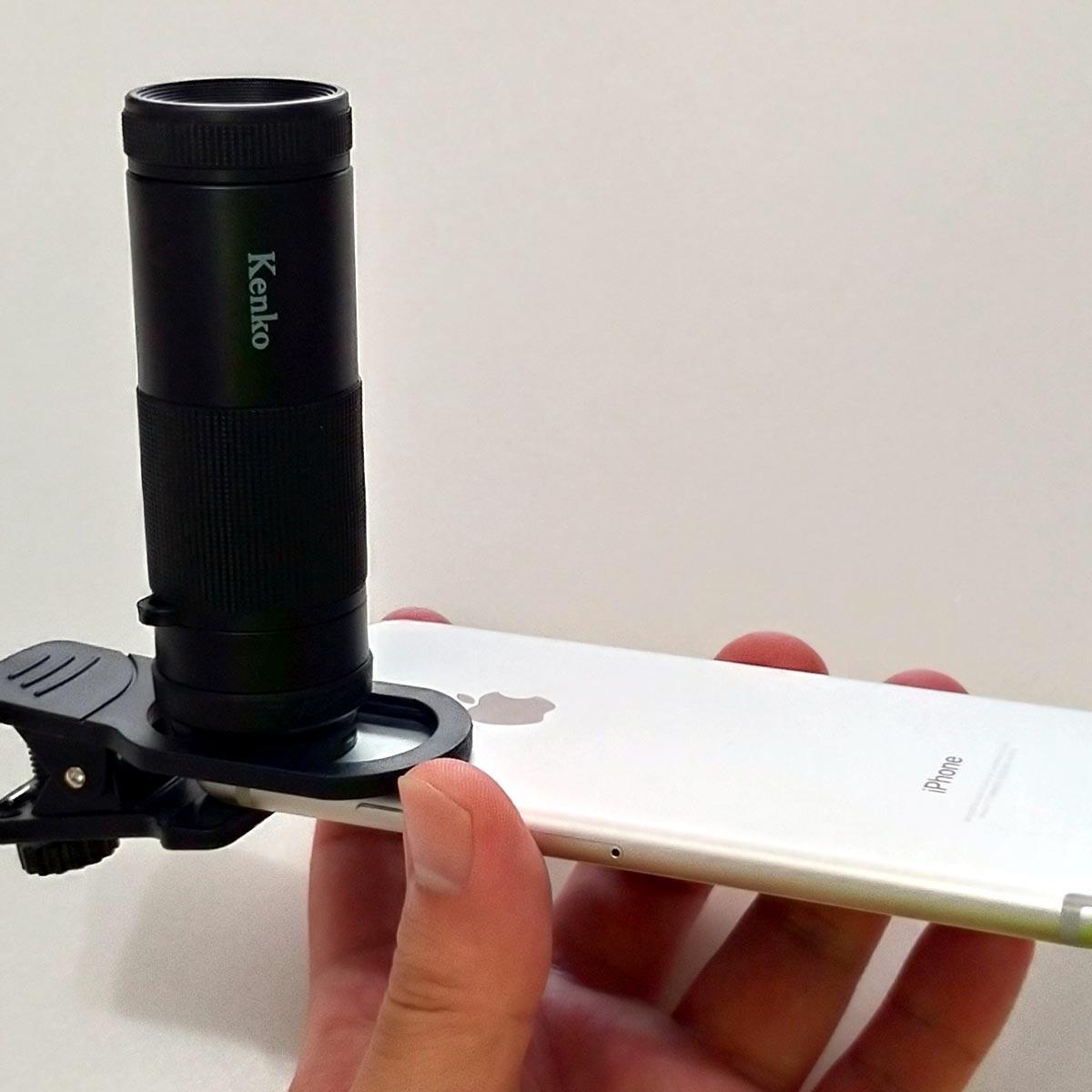 どんな写真が撮れる? スマートフォン用の「望遠8倍クリップレンズ」を試す