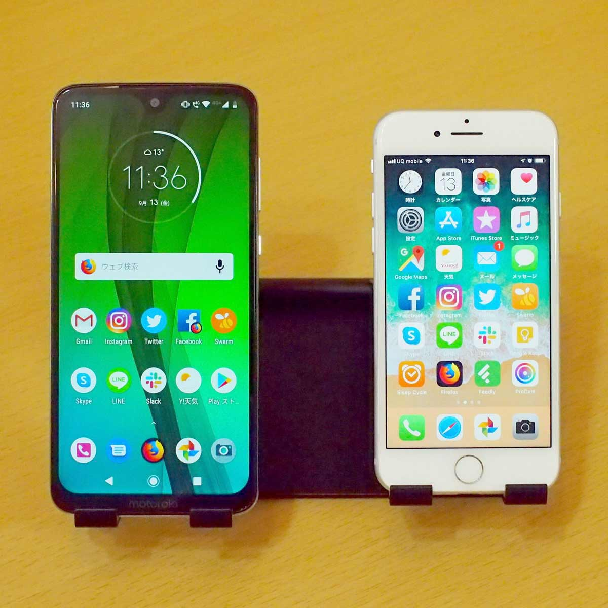 スマートフォンを2台置ける大型のスマホスタンドを買ってみた!