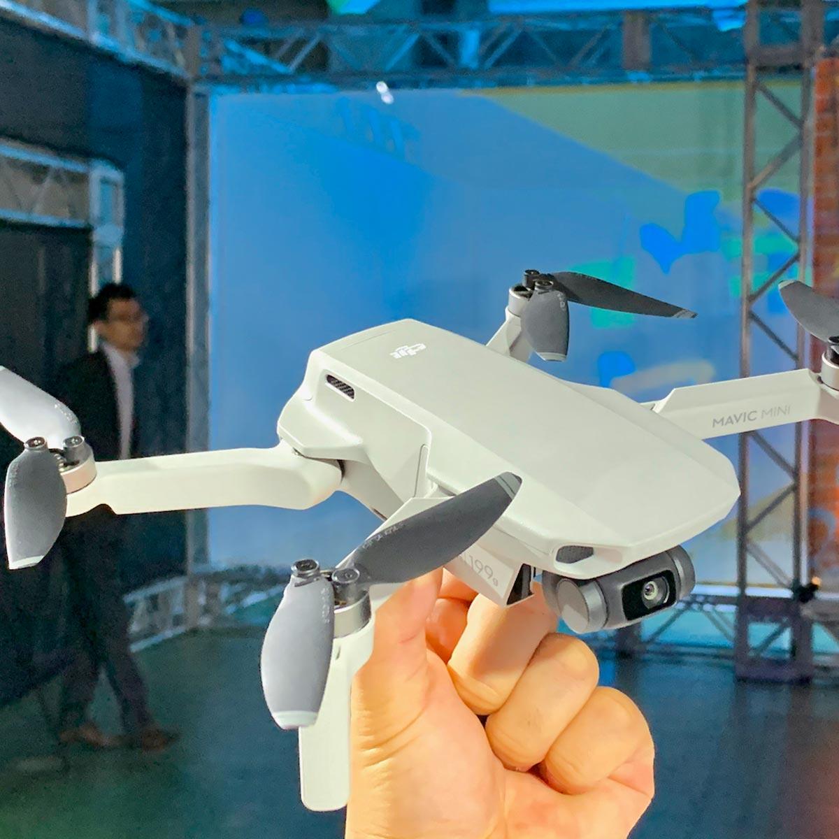 憧れの空撮がグッと身近に! DJIが軽量199gのドローン「Mavic Mini」を発表