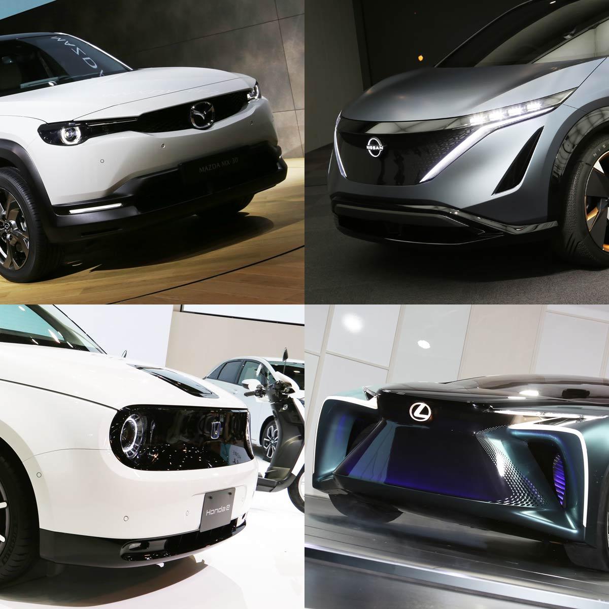 まもなく発売されるEVも!?東モで注目、最新の電気自動車「Honda e」「MX-30」「アリア」「LF-30」