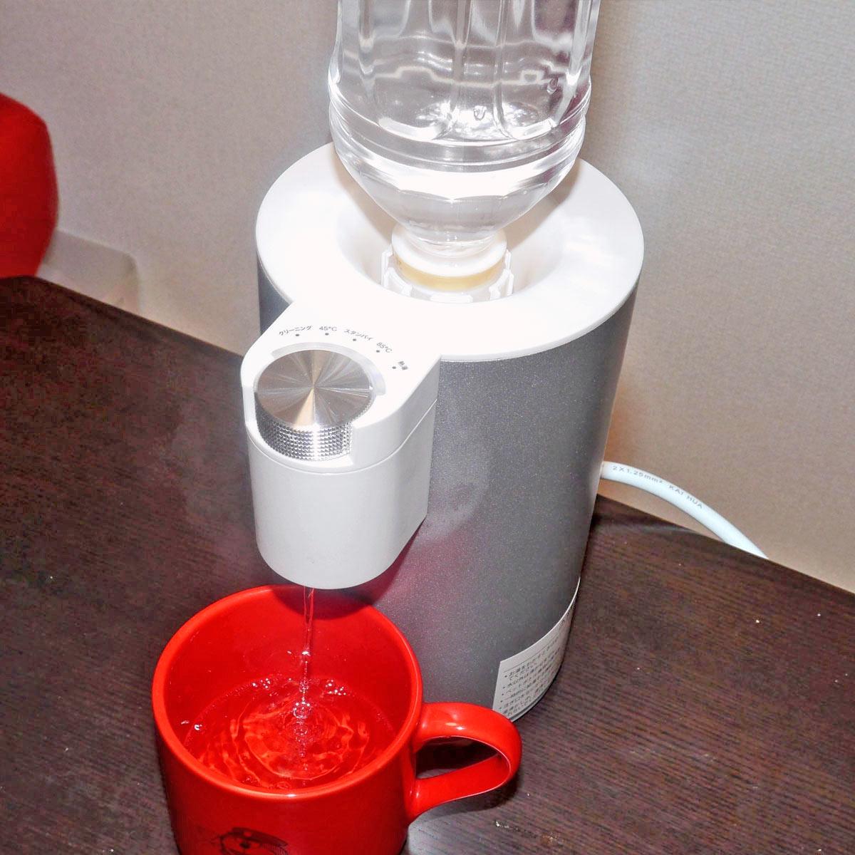 2秒でお湯が出るってホント!? 「ペットボトル式熱湯サーバー」の実力を検証!
