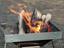 普通の焚き火台が調理に特化した「かまど型」に変身する焚き火グッズが便利でいい!