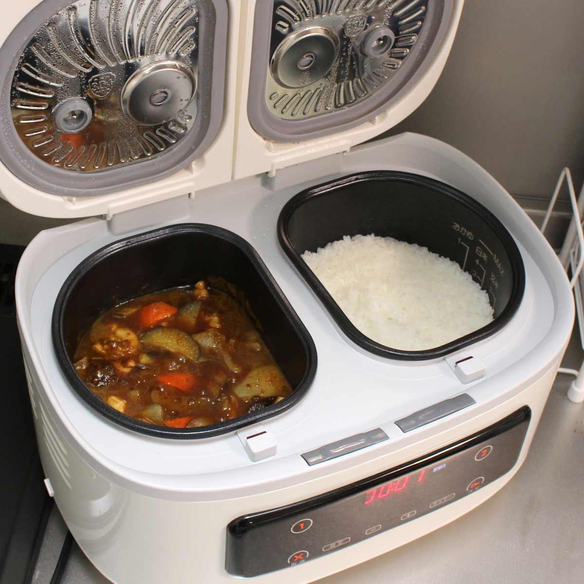 1台でご飯とおかずを一気に作れる!「ツインシェフ」がテレワークめしで大活躍