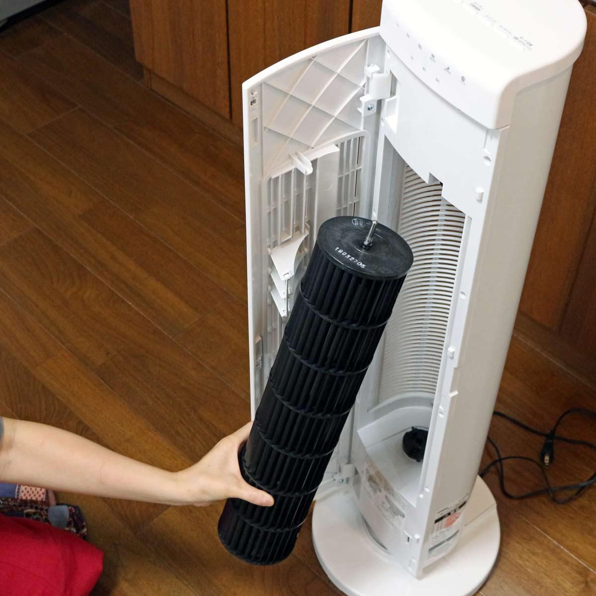 ファンが丸洗いできるって最高!キレイな風で涼めるツインバードのタワーファンは気持ちいい!!