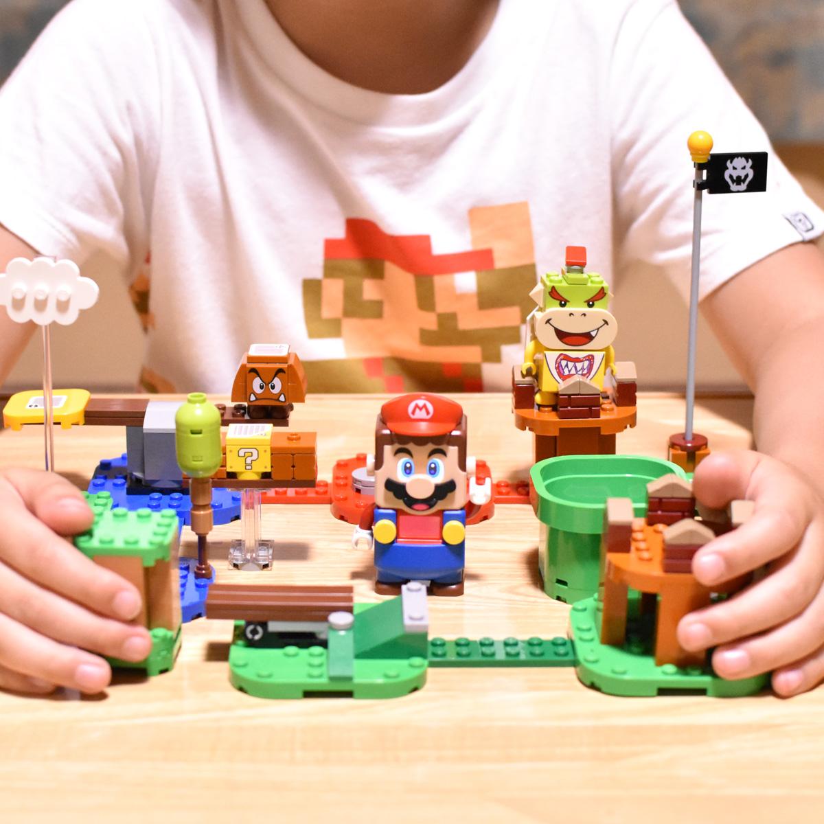 「コースづくりが楽しかった!」小学1年生が「レゴ スーパーマリオ」を全力で遊んでみた