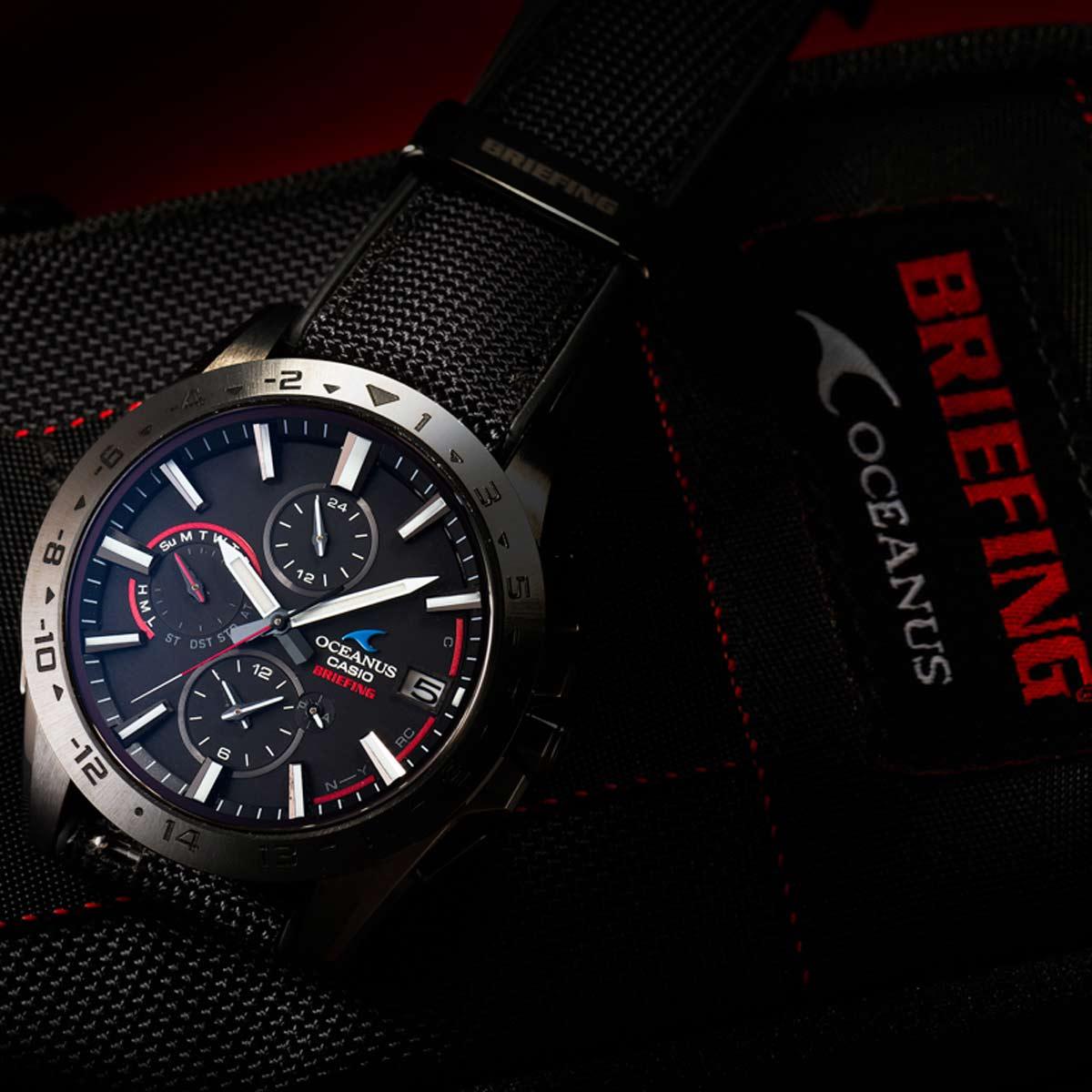 「カシオ」×「ブリーフィング」の新作腕時計はミリタリズムなたたずまいを強調