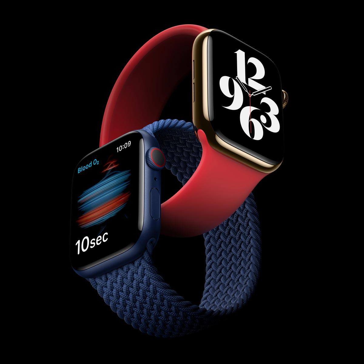 アップル、血中酸素濃度を測定できる「Apple Watch Series 6」と税別29,800円の「SE」