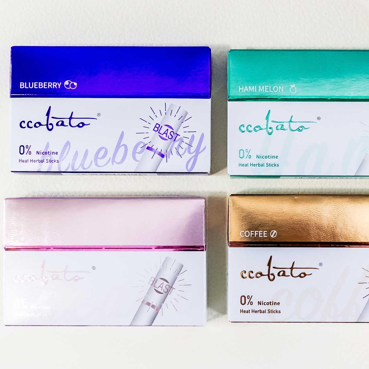 カプセルメンソール入りのニコチン0スティック「ccobato(コバト)」4種を吸い比べ!
