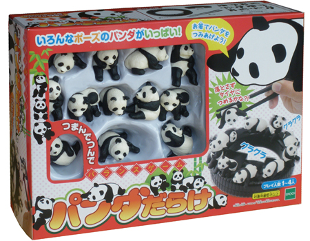 お箸でパンダを積み上げよう♪ パンダが主役のバランスゲーム