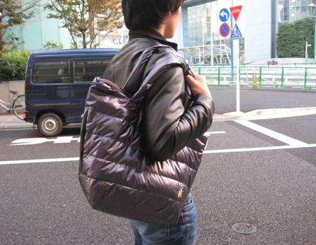 ダウンなバッグで、彼女と手を繋ぐチャンスが増える?!