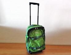 キャリー、ショルダー、バックパックの3Way変身バッグ