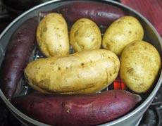 コンロがあればOK! 本格焼き芋が簡単に作れる芋焼き器