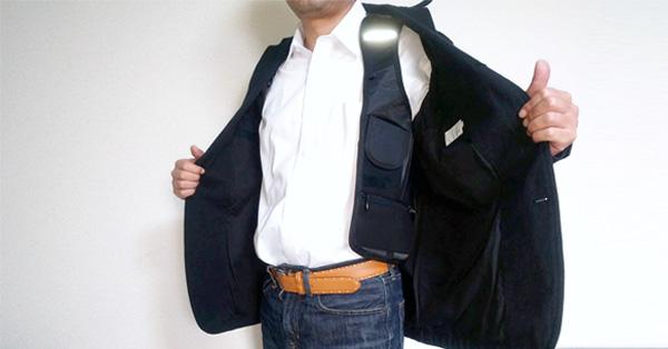 刑事みたいでかっこいい! 手ぶらで持てるホルスター型バッグ