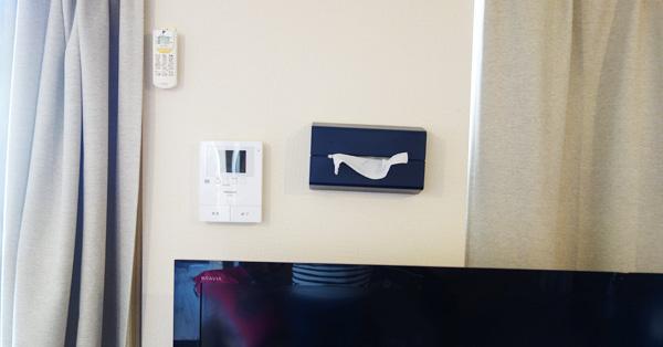 置く・立てる・壁に付けちゃう。便利な三変化ティッシュケース