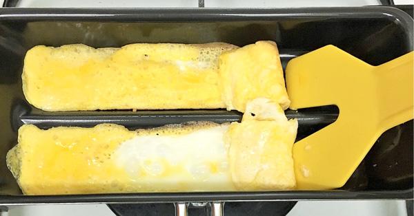 包丁いらず♪ ひと口サイズの玉子焼きが焼けるお手軽フライパン
