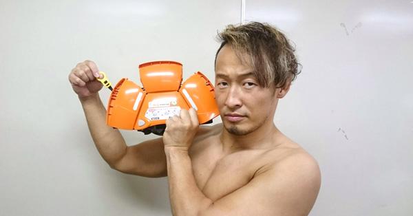 ヒモを引くだけ簡単組み立て! 折りたたみ式防災ヘルメット