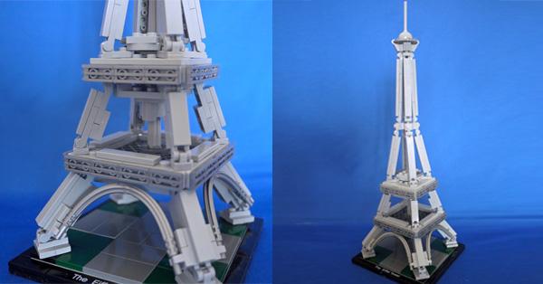 """名建築を再現する""""大人のレゴ""""でエッフェル塔を作ってみた"""