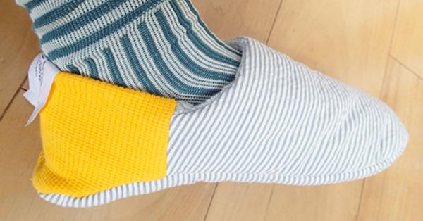 スリッパ×靴下。新感覚のルームシューズで足元ほっこり