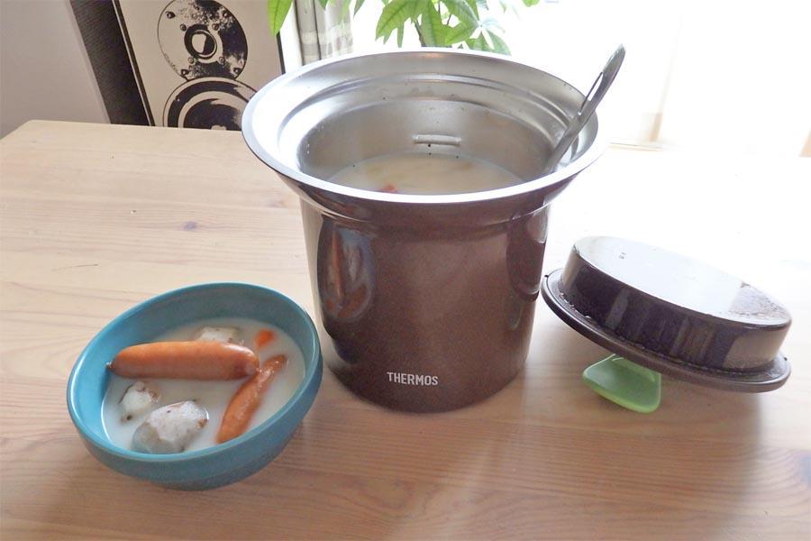 お湯入れて放置→調理完了! 「サーモス」の魔法のスープジャー