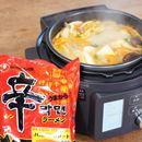 辛ラーメンで作るピリ辛鍋がウマい! 電気調理鍋でオトコめし【動画】