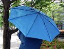 発想の逆転! 雨に濡れた面が内側にたためちゃう傘