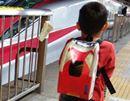 【鉄ちゃん養成グッズその1】背中に新幹線こまちを乗せてみた。