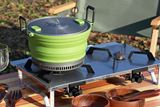 厚さ約5cmに折りたためる3Lの大鍋! GSI「エスケープHSポット」はファミリーキャンプの強い味方