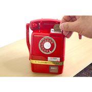 懐かしの「赤電話」がミニチュア貯金箱に! ギミックの再現度に感涙