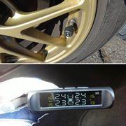 温度や空気圧がすぐわかる「空気圧モニター」でタイヤの状態を常時監視!