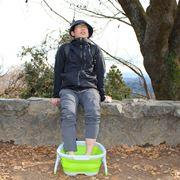 """絶景で入る""""足湯""""が最高に気持ちいい!「足湯バケツ」を持って山に登ってきた"""