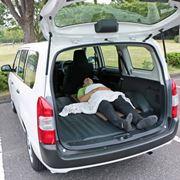 装備は最小限でも寝心地は上々!ハイブリッドになったトヨタ「プロボックス」も車中泊にイイ!!