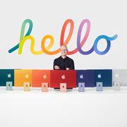アップル、M1搭載の新「iMac」は超スリムでカラフルな7色展開