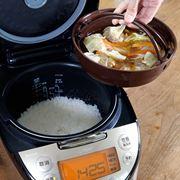 ご飯とおかずが同時に作れる炊飯器「tacook」で煮込みハンバーグやってみた【動画】