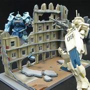 """驚くほどガンプラに合う! """"破壊された建物""""のプラモデルでディスプレイが楽しくなる"""
