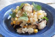 「旨み炊飯鍋」で作る、タコととうもろこしの炊き込みごはん