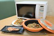 電子レンジでこんがり焼き物調理ができる「グリルクックレンジ」が便利