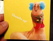 親指を超クールに着飾れる「Thumbs up! Stamp」