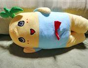 梨の妖精がベッドに進出。BIGになった抱き枕ゲット♪