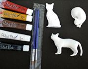 世界に1つだけ! 塗って作る我が家の愛猫フィギュアキット