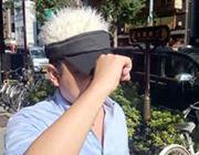 「髪の毛付き」のサンバイザーをかぶって町を闊歩してみた