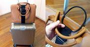 スーツケースにベルトを付けたら便利になっちゃった!