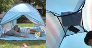 """""""ポンッ!""""と開いてすぐ設置。機能もバッチリの簡易テント"""