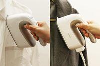 電源コード付きでも使える2WAY機構! 業界初のコードレス衣類スチーマーが使いやすい!!