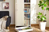 一生分の薄い本をしまえる!? 約3,000冊収納&隠し扉付きの「同人誌ラック」を発見