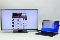 大画面ディスプレイでテレワークの作業効率をアップ!  もちろんオフィスワークにも