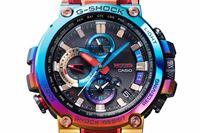 "《G-SHOCK》高級ライン「MT-G」に""虹色""が登場! 製品ごとに色合いが異なる"